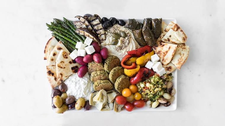 Beautifully styled mezze board