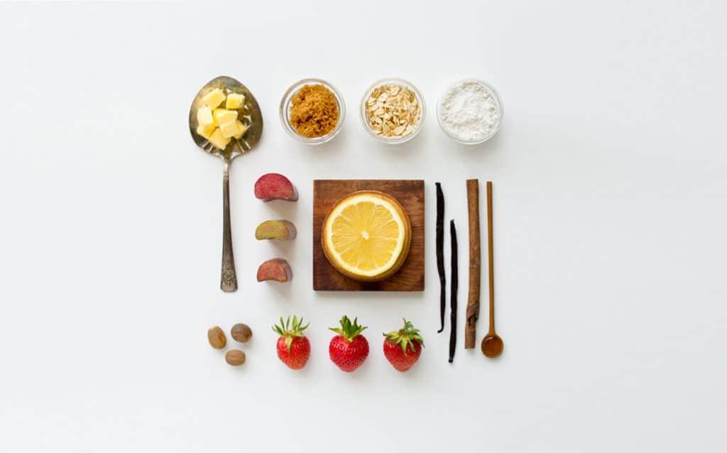 Strawberry-Rhubarb-Crumble-Ingedients