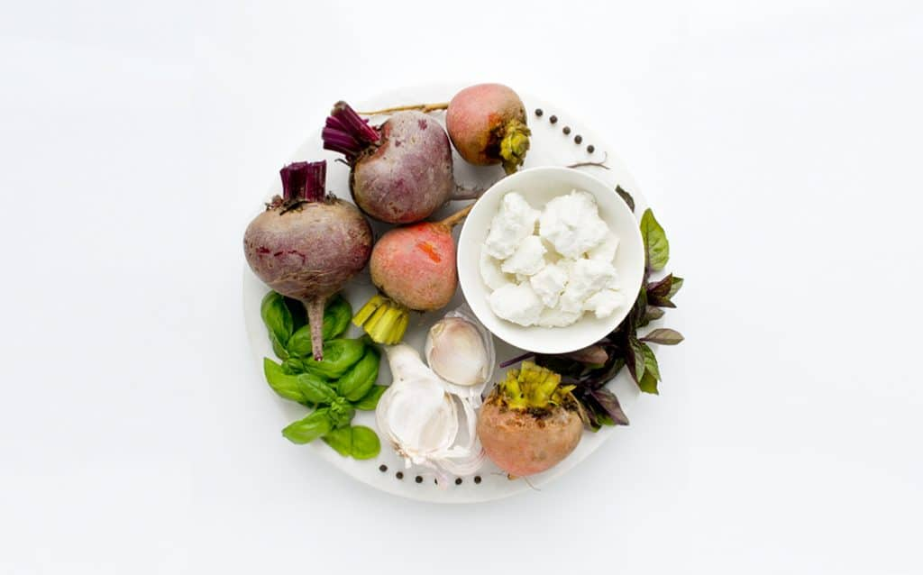 Ingredients Flatlay for a Beet Terrine