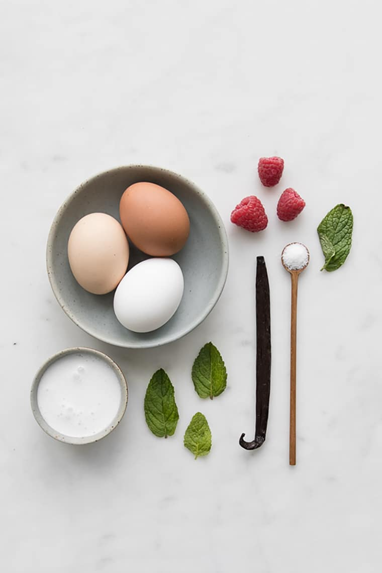Ingredients for dairy free creme brulee