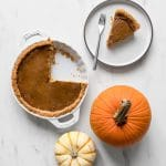 Whole30 pumpkin pie being served