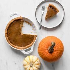 Whole30 pumpkin pie being served