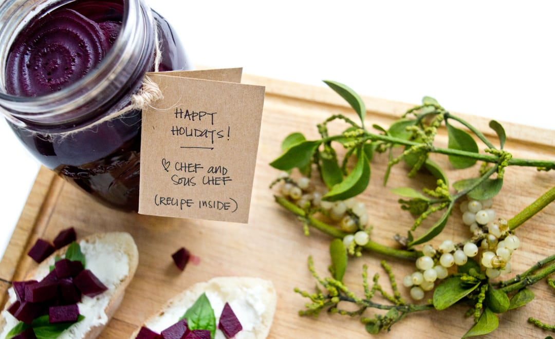 Homemade Holiday Food Gifts - Pickled Beets