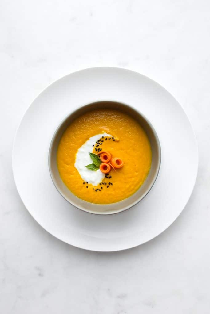 Roasted Carrot and Ginger Soup from above