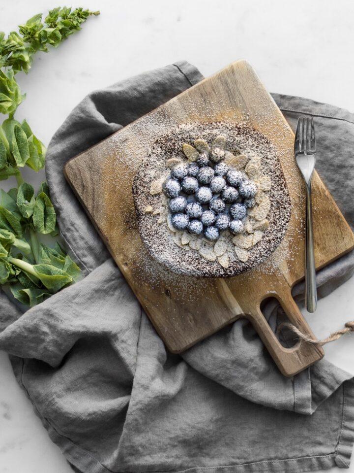 Flat lay image of gluten free cake