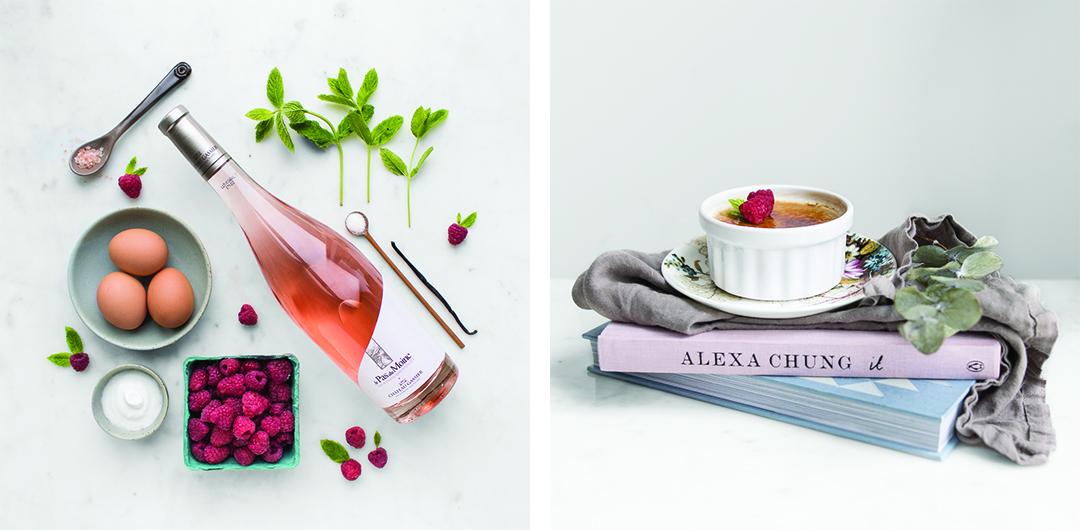 Raspberry Rosé Creme Brûlée