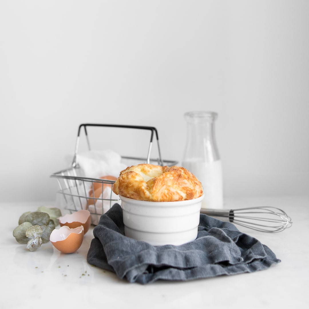 Classic Cheese Souffle photography
