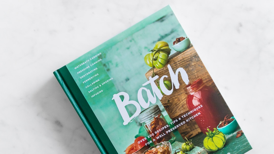 Close up photo of Batch Cookbook Cover