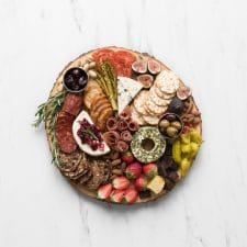 A styled Cheese and Charcuterie Board
