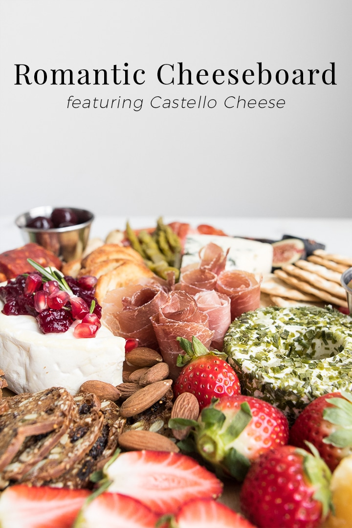 When celebrating date night at home, we like to keep it simple yet equally special with meals that don't take long to prep but are impactful enough to celebrate our relationship. Enter our Romantic Cheese and Charcuterie Board.#BeautifulFood #Cheese #Cheeseboard #RomanticFood #Charcuterie