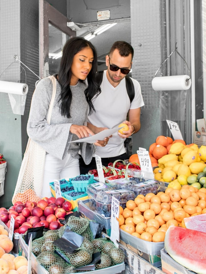 Grocery Shopping At Kensington Market Toronto