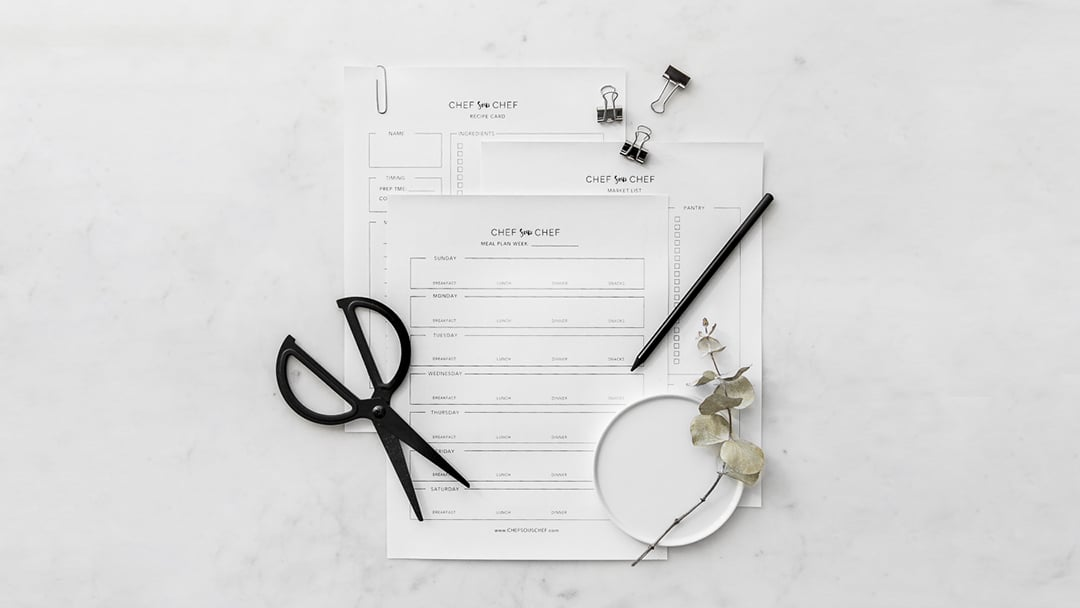 meal plan template how to plan shop cook chef sous chef