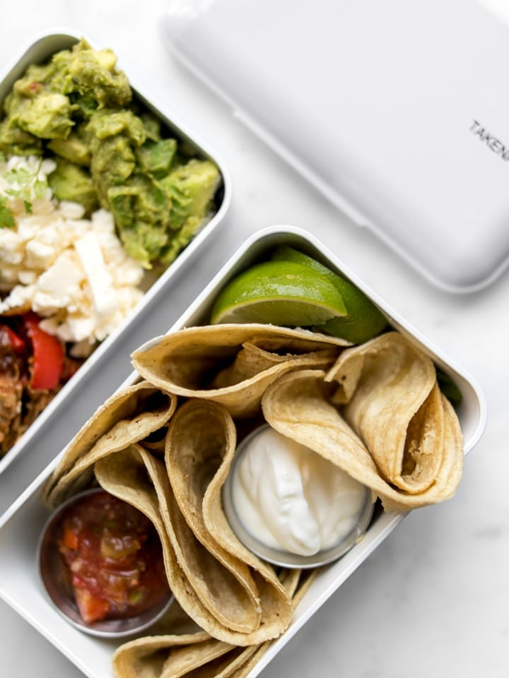 Bento Box Lunch with Tacos