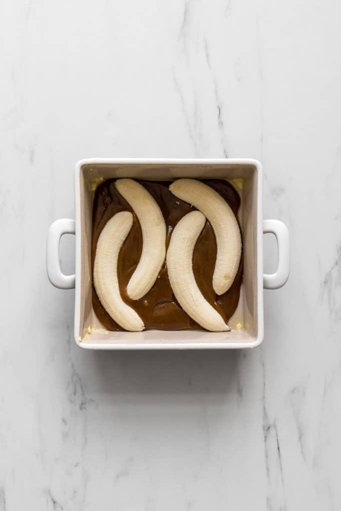 Halved Bananas in Brown Sugar Caramel