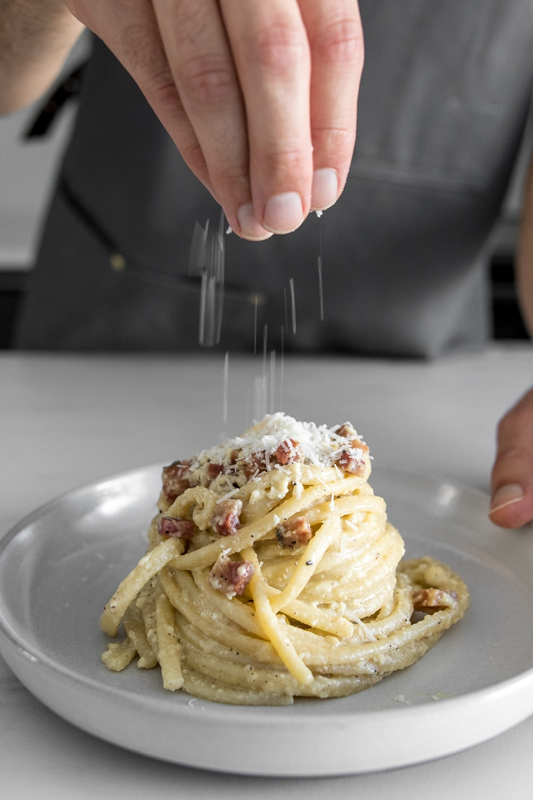 Classic Creamy Carbonara With Pancetta Chef Sous Chef
