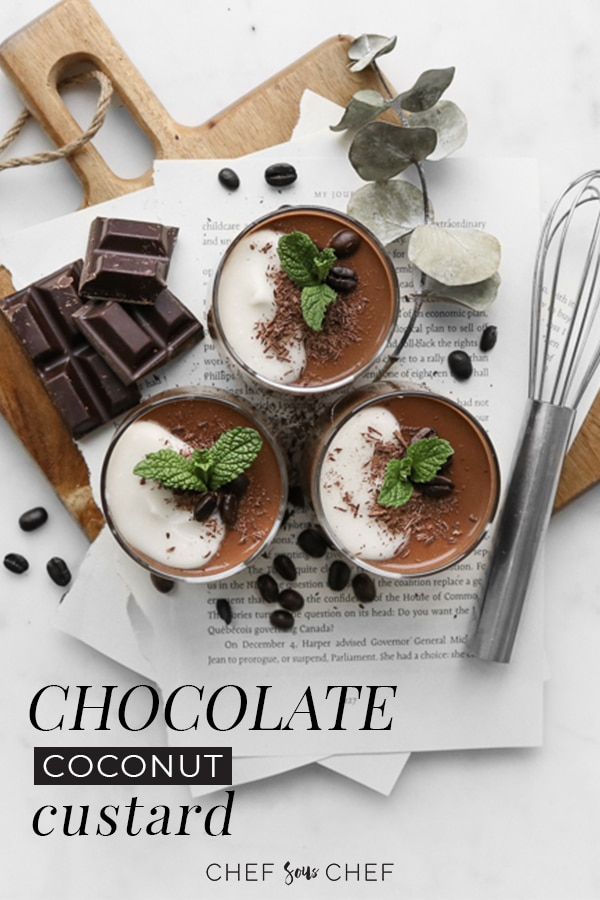 Chocolate Coconut Custard Recipe