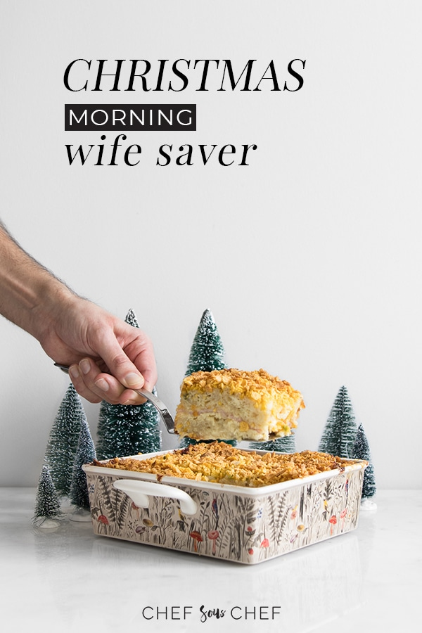 Serving a slice of Christmas Morning Wife Saver