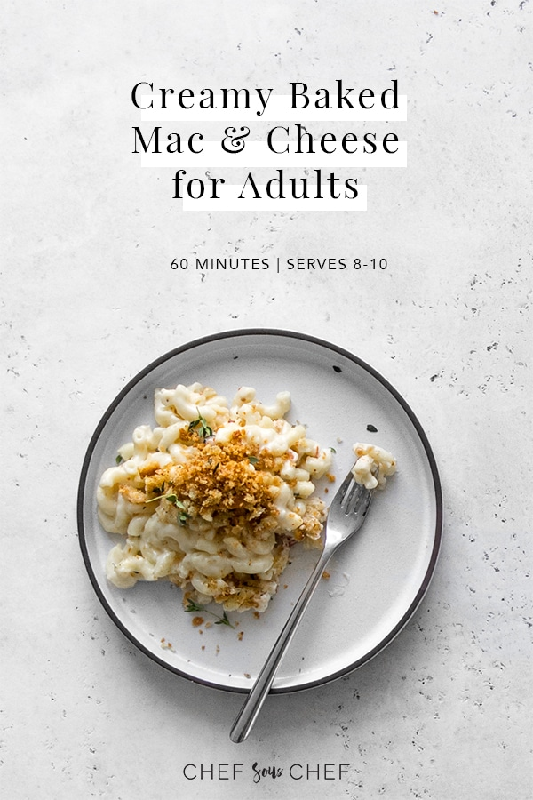 Creamy Baked Mac and Cheese for Adults Graphic