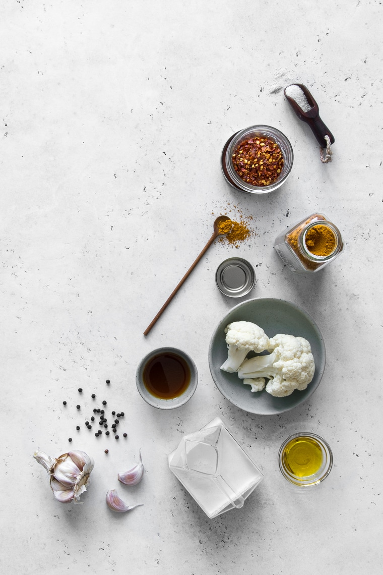 Ingredients for Curry Cauliflower Soup