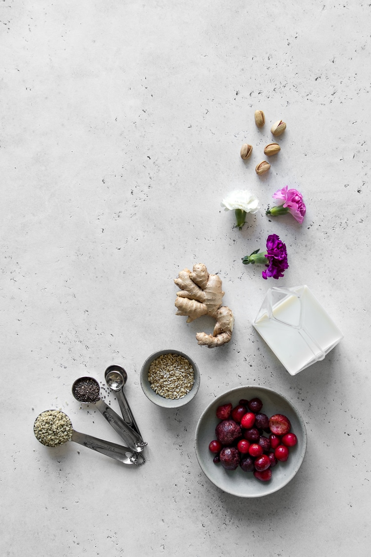 Ingredients for a Healthy Smoothie Bowl