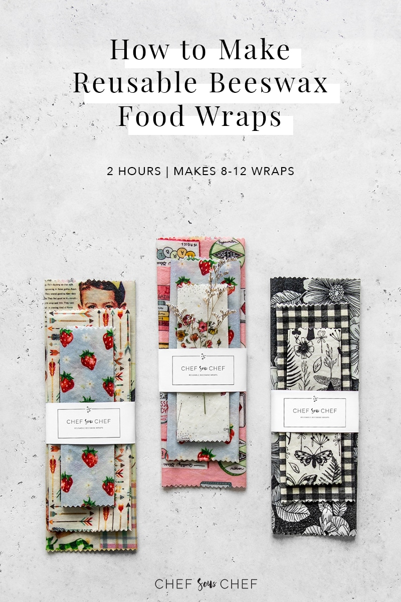 How to Make Reusable Beeswax Food Wraps Pinterest Image