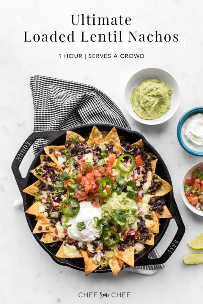 Loaded Lentil Nachos Pinterest Image