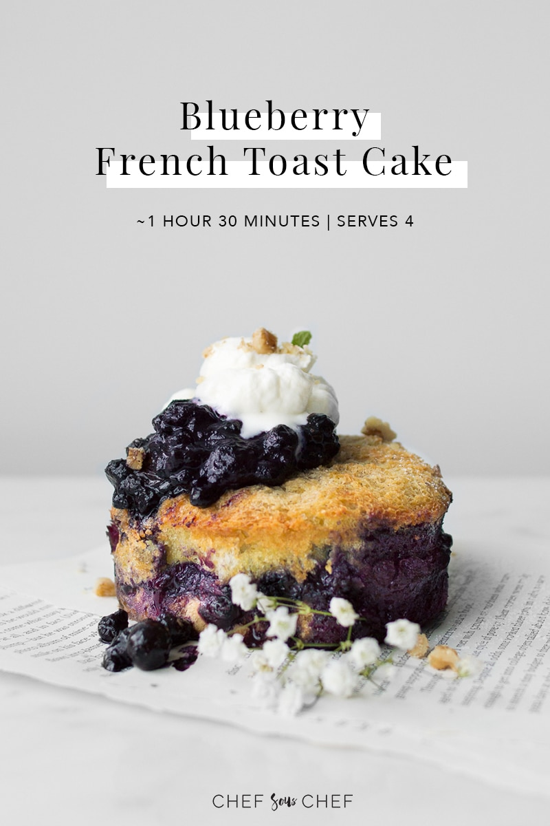 Blueberry French Toast Cake with Text Overlay