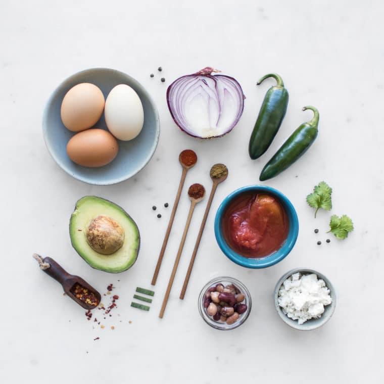 Ingredients for Vegetarian Shakshuka