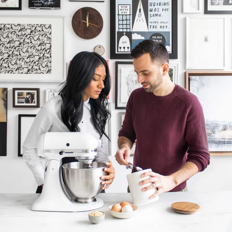 Interacial couple baking together