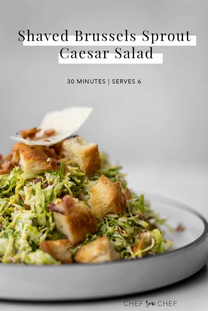 Brussels Sprout Caesar Salad with Text Overlay