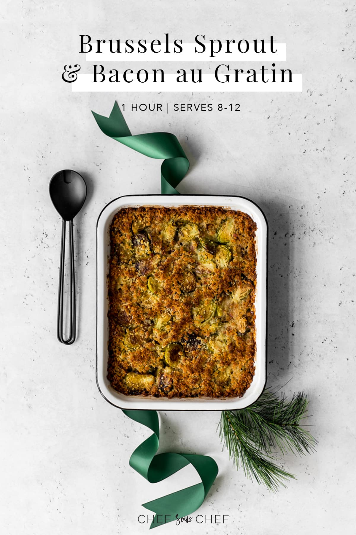 Roasted Brussels Sprouts au Gratin Pinterest Image