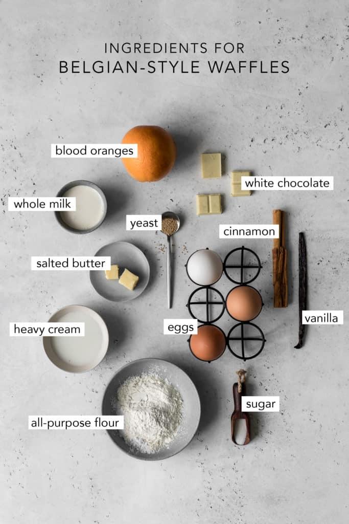 Ingredients to Make Belgian-Style Waffles