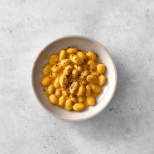 Potato Gnocchi with Butternut Squash Cream Sauce in a Bowl
