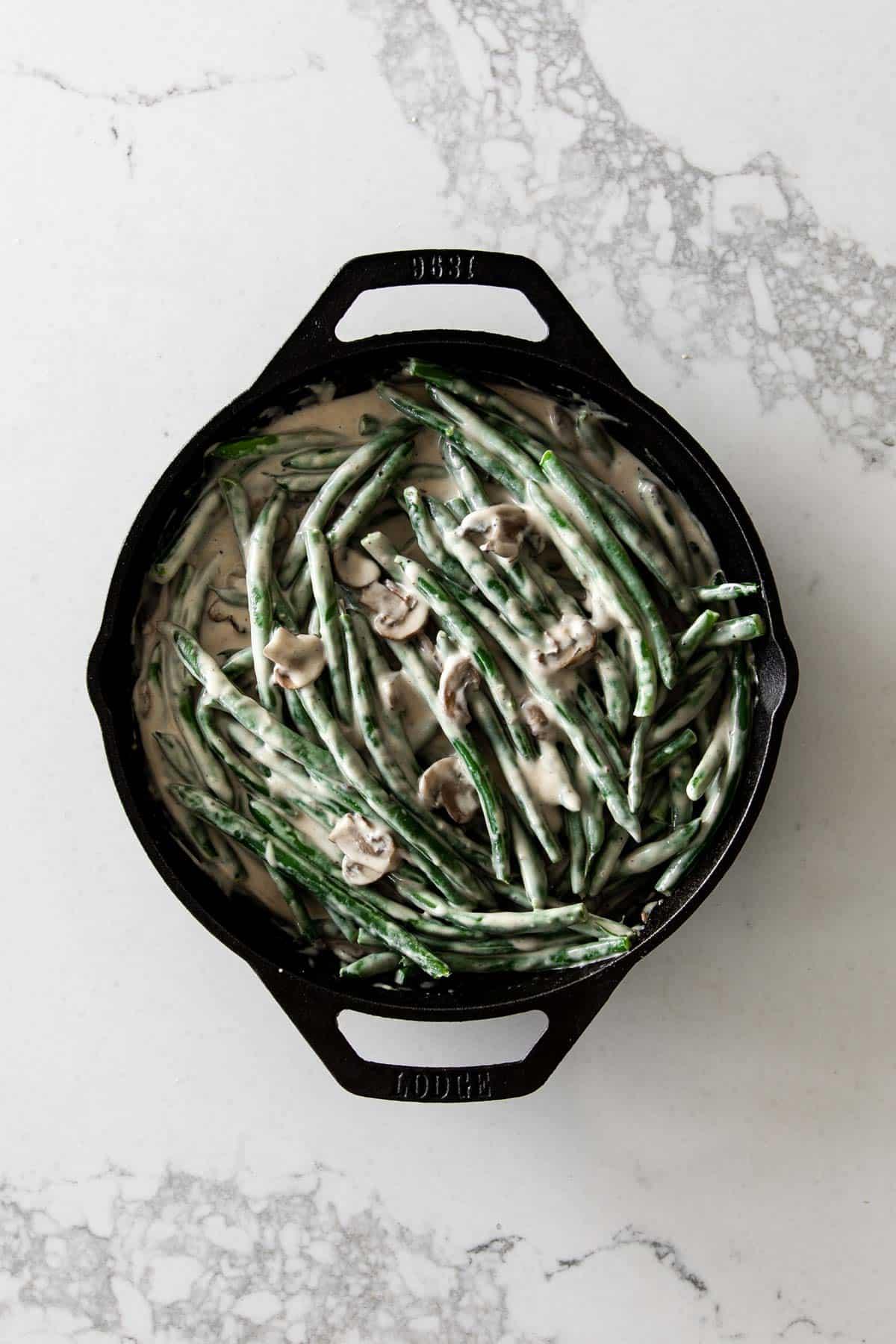 Green Beans in Mushroom Cream Sauce